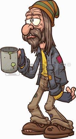 Chiste de hombre, mendigo, transeúnte,  dolar, gastes, vino, carreras, caballos, casa.