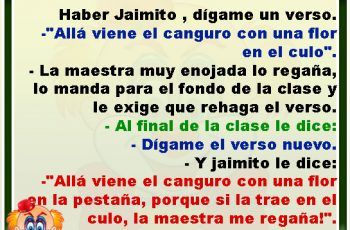 Jaimito, dígame un verso - Chistes de Jaimito