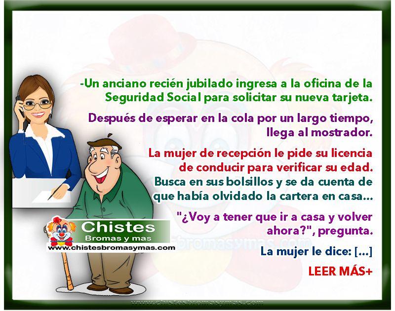 Jubilado en oficina de seguridad social chistes de ancianos for Chistes de oficina