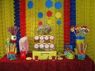 Chiste de niños, fiesta, sorpresa, amigo, caseta, decorado, dulces.