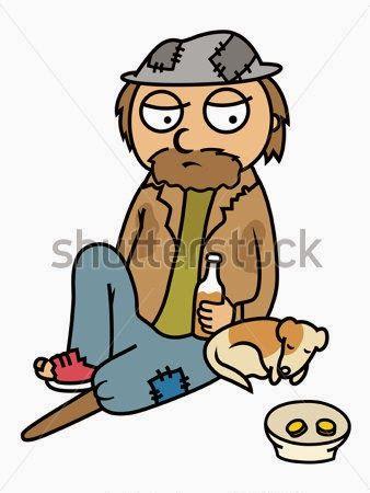 Chiste corto, invierno, vagabundos, cartones, suelo, dormir, infierno, calefacción.