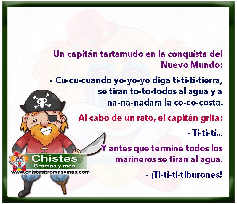 Capitán tartamudo - Chistes cortos buenos y divertidos