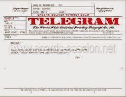 Telegrama para el hijo.