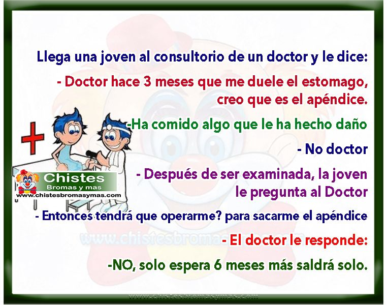 ▷ Dolor de estómago - Chistes divertidos de médicos