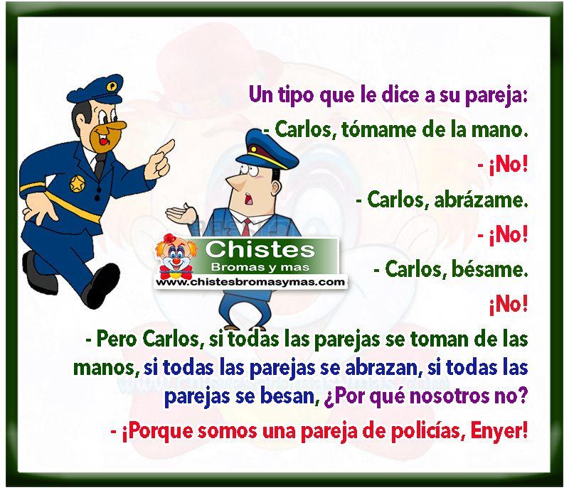 Pareja de policías - Chistes cortos de policías y ladrones