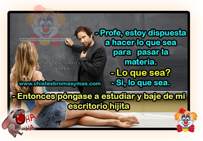 El profesor y la alumna - Chistes cortos de profesores