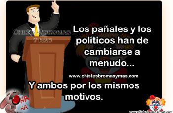 Los pañales y los políticos - Chistes de políticos divertidos.