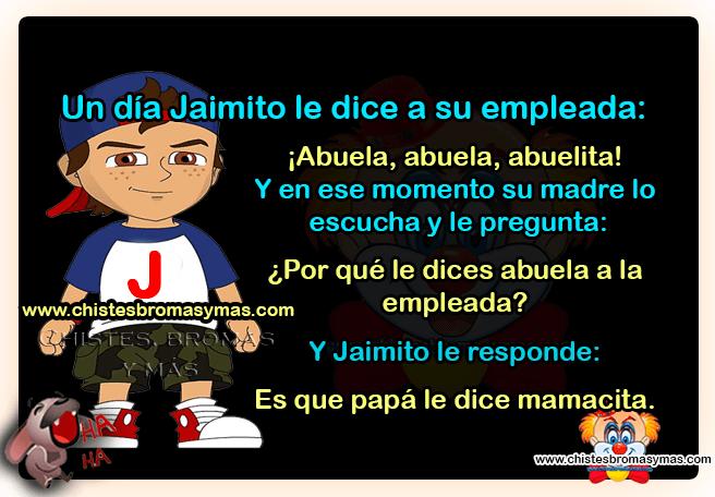 Jaimito y la empleada - Chistes divertidos de Jaimito