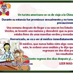 Turista americano en China - Chistes divertidos de médicos
