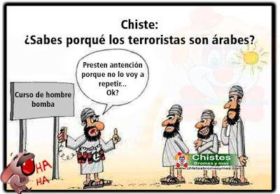 Todo el mundo se pregunta:  ¿Por qué los terroristas son árabes y no los de otras partes del mundo y están siempre dispuestos a suicidarse por sus convicciones ?