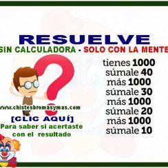 Serás capaz de resolver esta simple operación de suma sin calculadora1